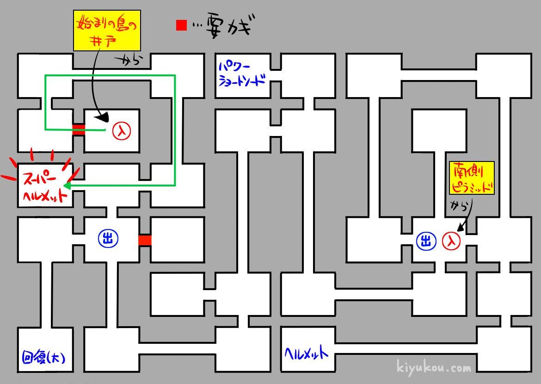ワルキューレの冒険のマップ